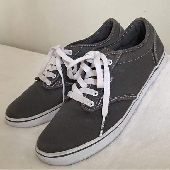 Vans Shoes   Vans Grey Canvas Tennis